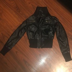 Cute leather jacket